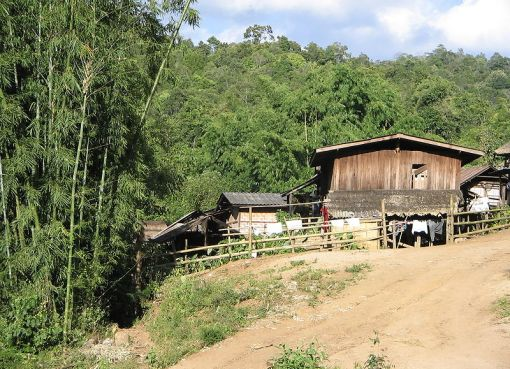 Village of the Karen hilltribe in northern Thailand