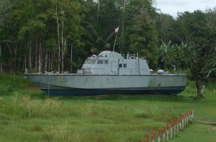 Tsunami Police Boat 813 at Tsunami Memorial Park