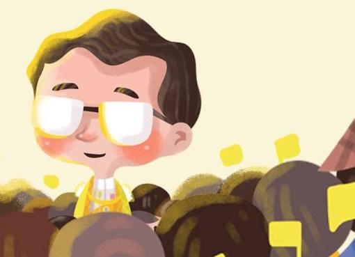 KIng Bhumibol illustration