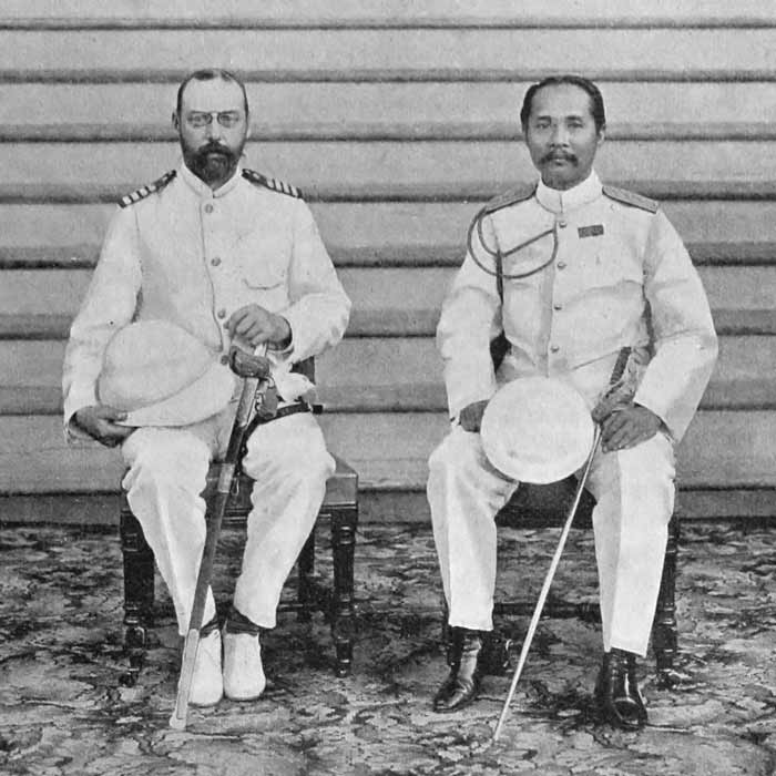 Prince Valdemar and king Chulalongkorn
