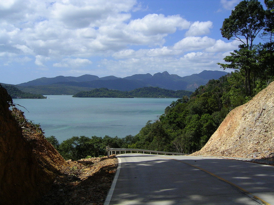 Road in Koh Chang island
