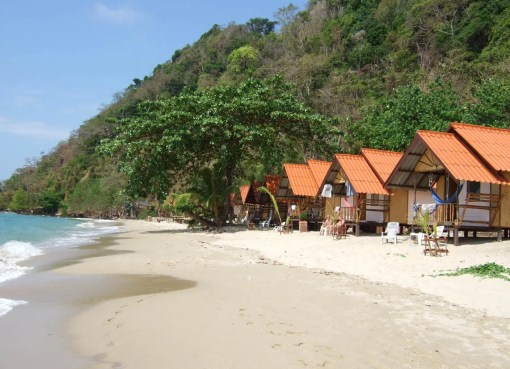 White sand beach in Koh Chang