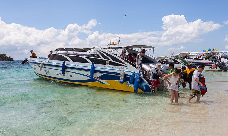 Speedboat in Koh Khai Nok, a small island tucked away in Phang Nga Bay