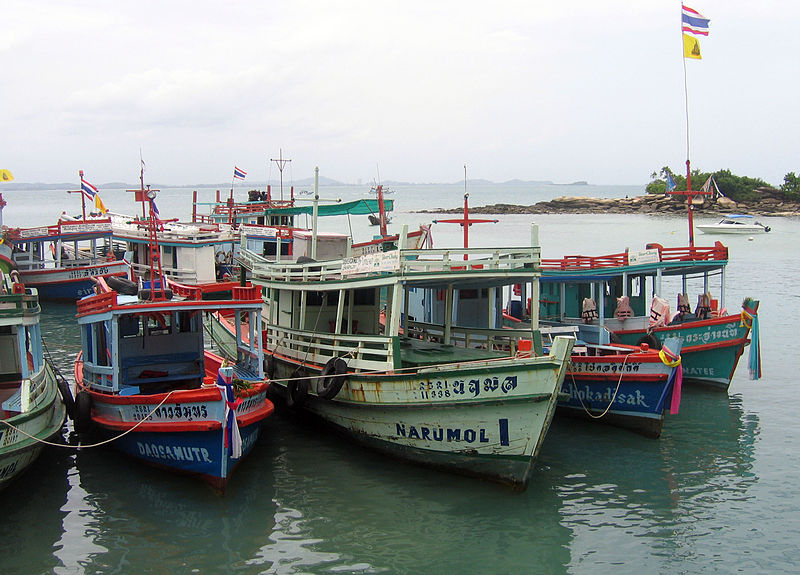 Boats in Koh Samet island, Rayong Province