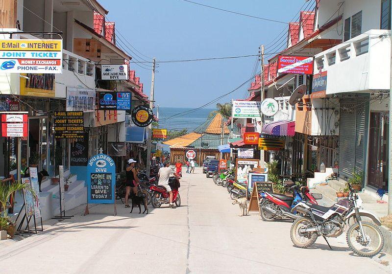 Street in Koh Tao Island, Surat Thani