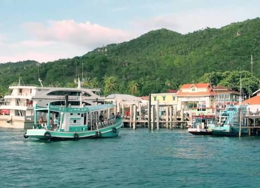 Pier in Koh Tao Island, Surat Thani