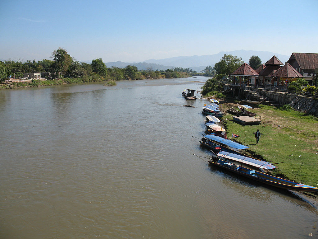 The Kok River at Tambon Tha Ton, Amphoe Mae Ai, Chiang Mai province
