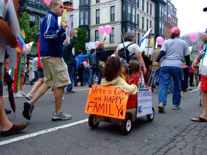 LGBT pride in Boston, USA