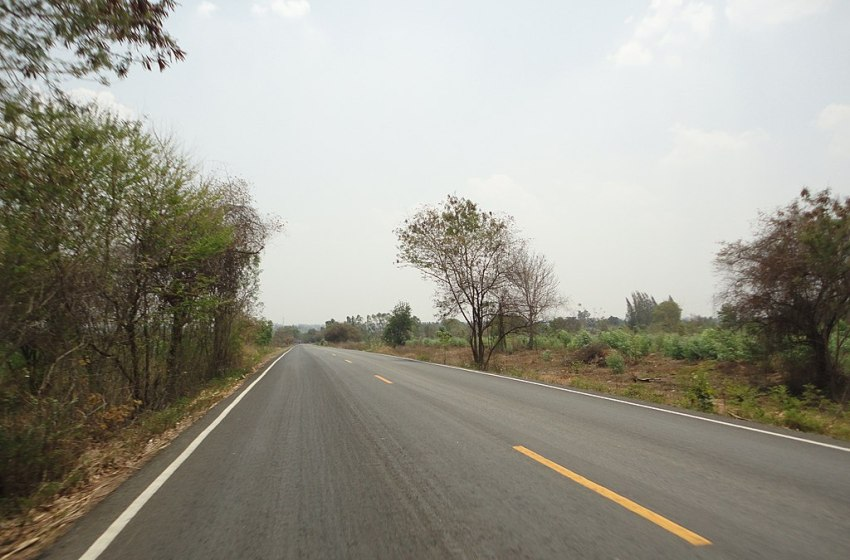 A road in Maha Sarakham