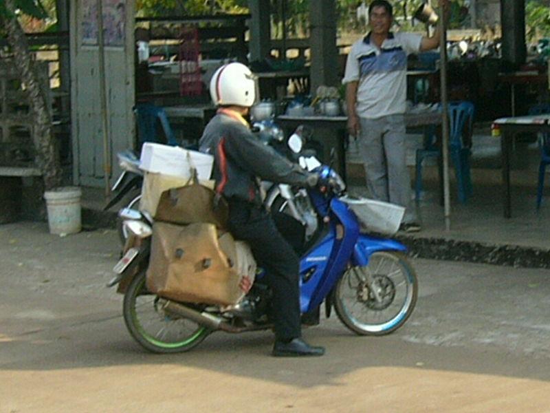 Thailand post postman
