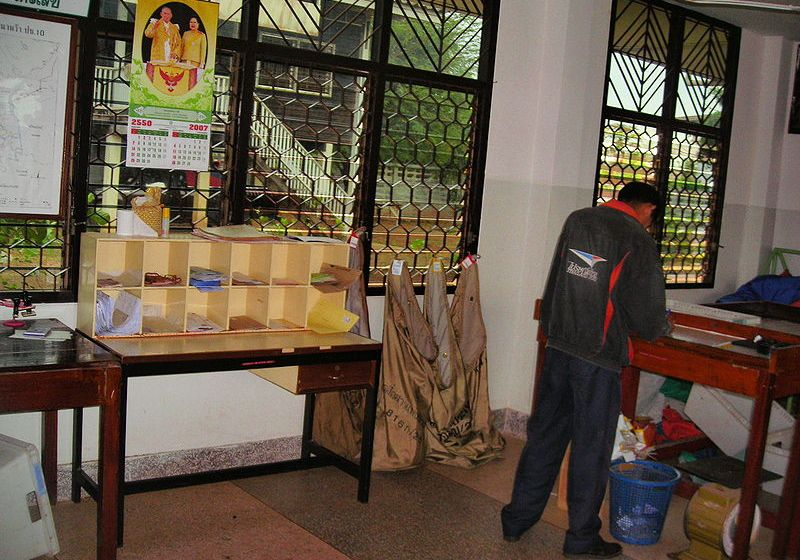 Distribution of mail at Thailand post office