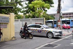 Mercedes-Benz Police car in Thailand