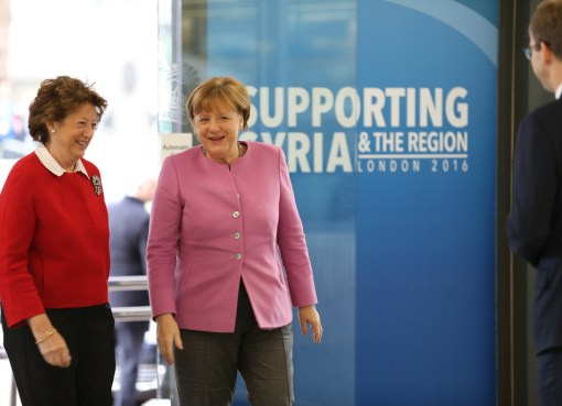 Angela Merkel at the Supporting Syria and the Region