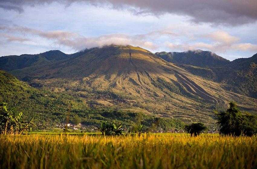 Mount Guntur in Western Java, Indonesia