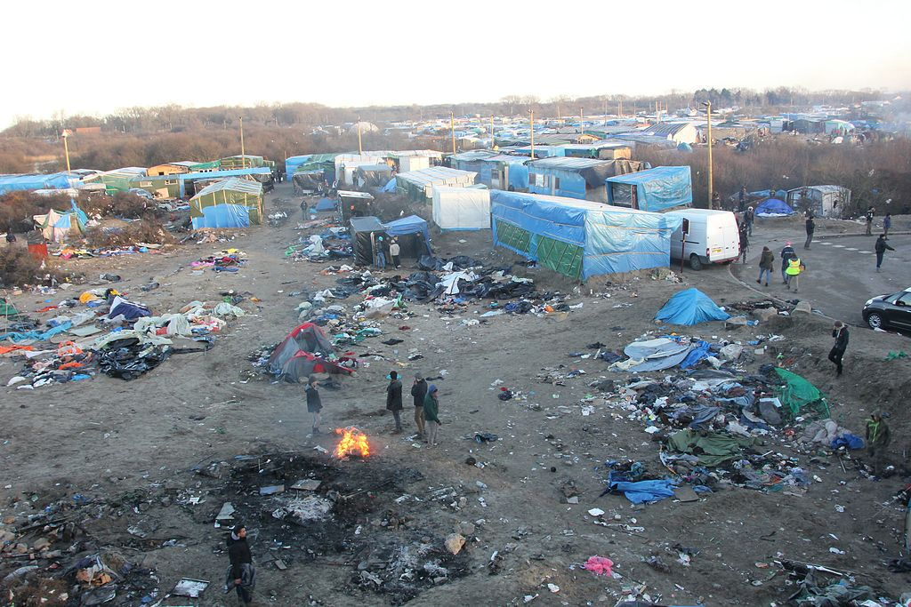 African economic inmigrants in Calais, France