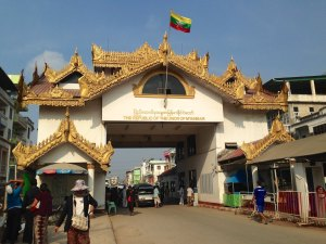 The Myawaddy/Mae Sot border crossing in the Thai-Myanmar border