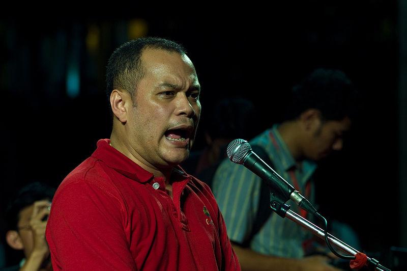 Nattawut Saikua secretary-general and spokesman of the United Front for Democracy Against Dictatorship, Red Shirts