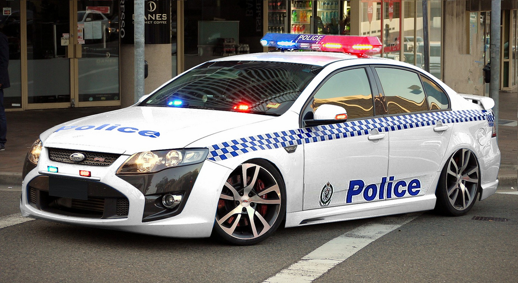New South Wales Police Force car