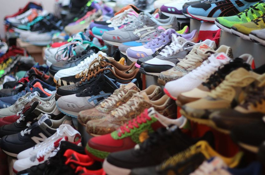 Nike brand sneakers together with other brands