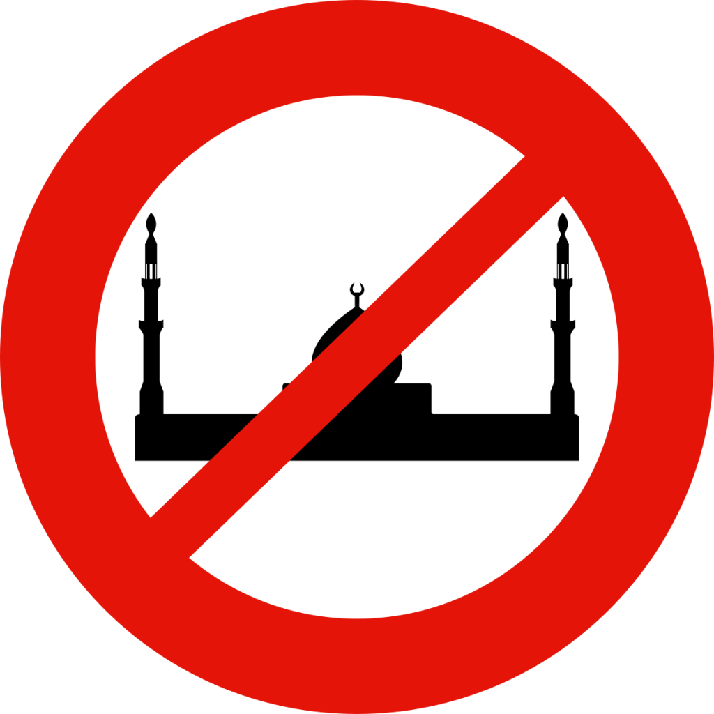 No mosque sign