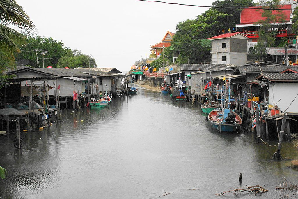 Nong Kae canal in Hua Hin District