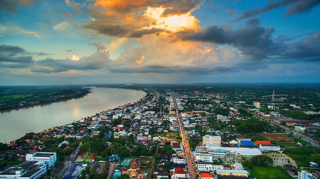 Nong Khai city and the Mekong River