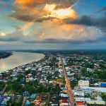 Nong Khai city and the Mekong River