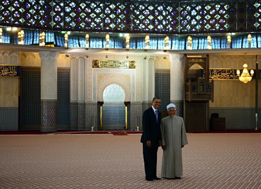U.S. President Barak Hussein Obama Visits the National Mosque of Malaysia