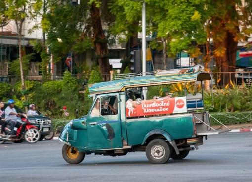 Old Pak Kob tuk tuk in Trang city