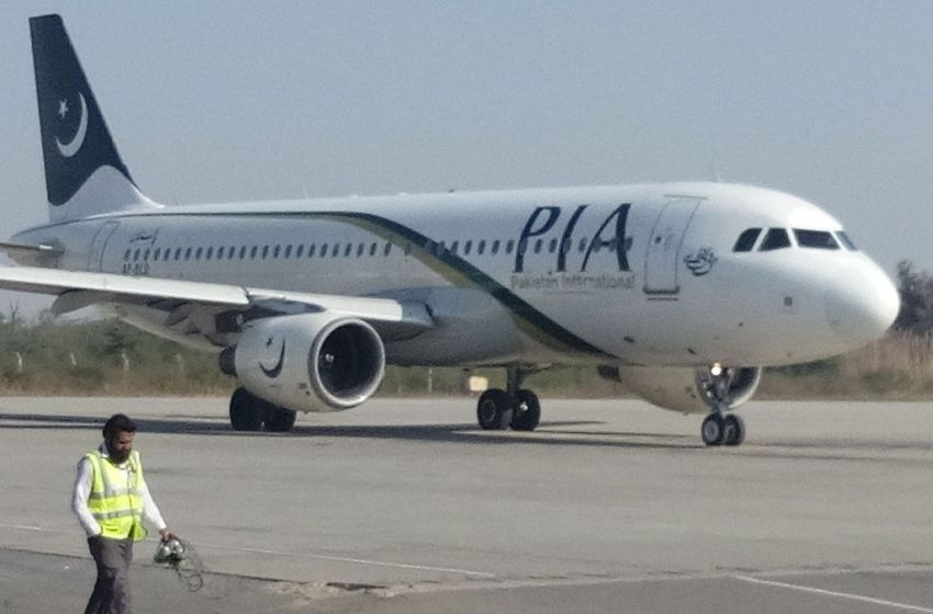 Pakistan International Airlines (PIA) Airbus A320-214 arrived from Karachi