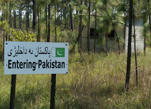 Pakistan border sign