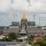 The new Thailand's parliament under constructionin Bangkok. It iscalled Sappaya-Sapasathan