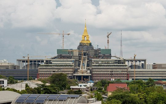 The new Thailand's parliament under construction in Bangkok. It is called Sappaya-Sapasathan