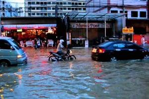 Pattaya inundated by rains from tropical storm Trami