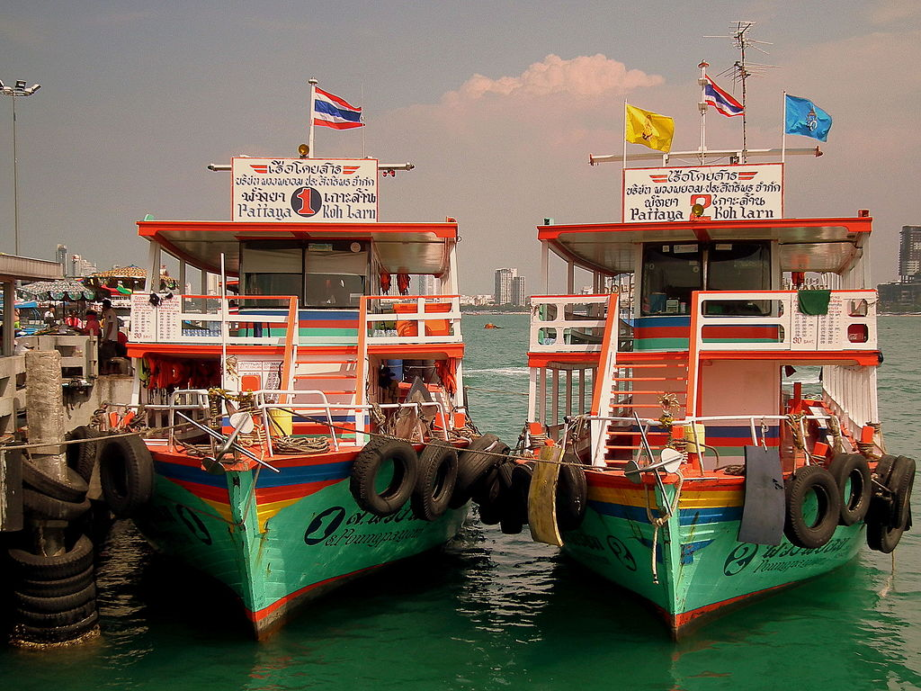 Ferries to Koh Larn at Pattaya pier