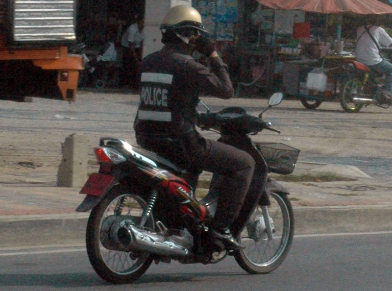 Thai policeman in Pattaya