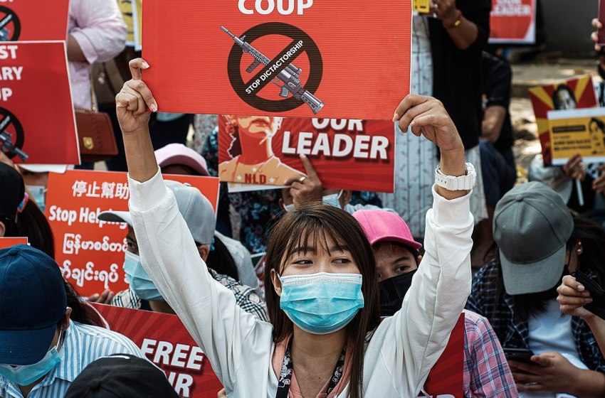 Myanmar- Activists assert foreign countries' back for the coup authority