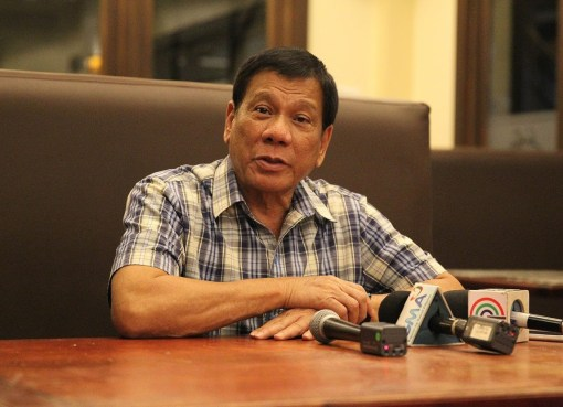 President Rodrigo Roa Duterte, during a press conference at Hotel Elena in Davao City on August 8