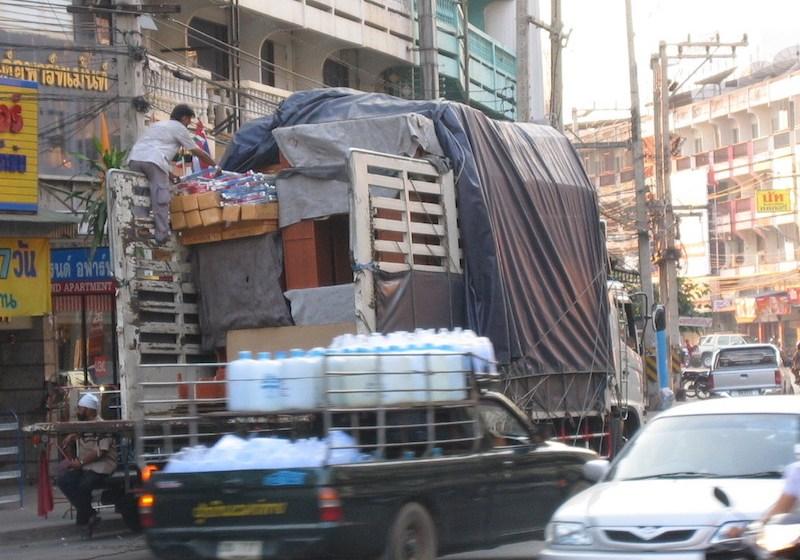 Busy street in Phitsanulok