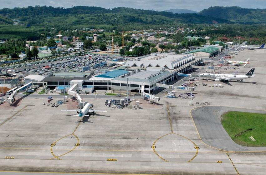 Aerial view while Landing at Phuket Airport