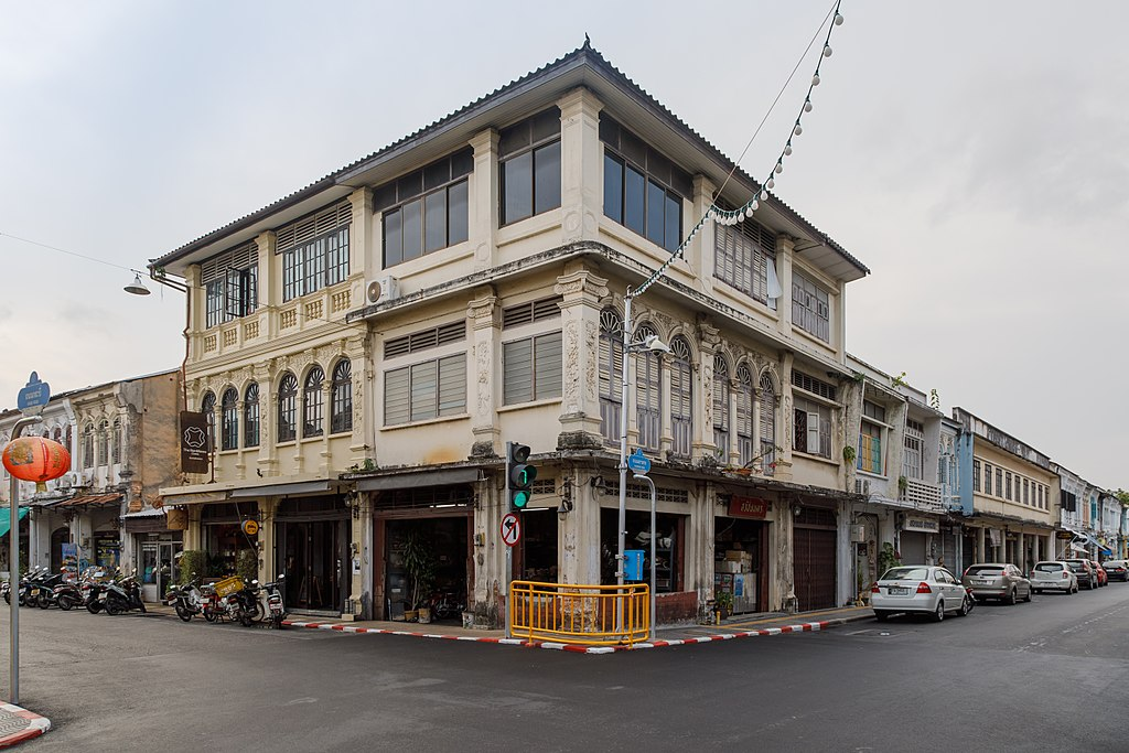 Buildings at Yaowarat Road in Phuket