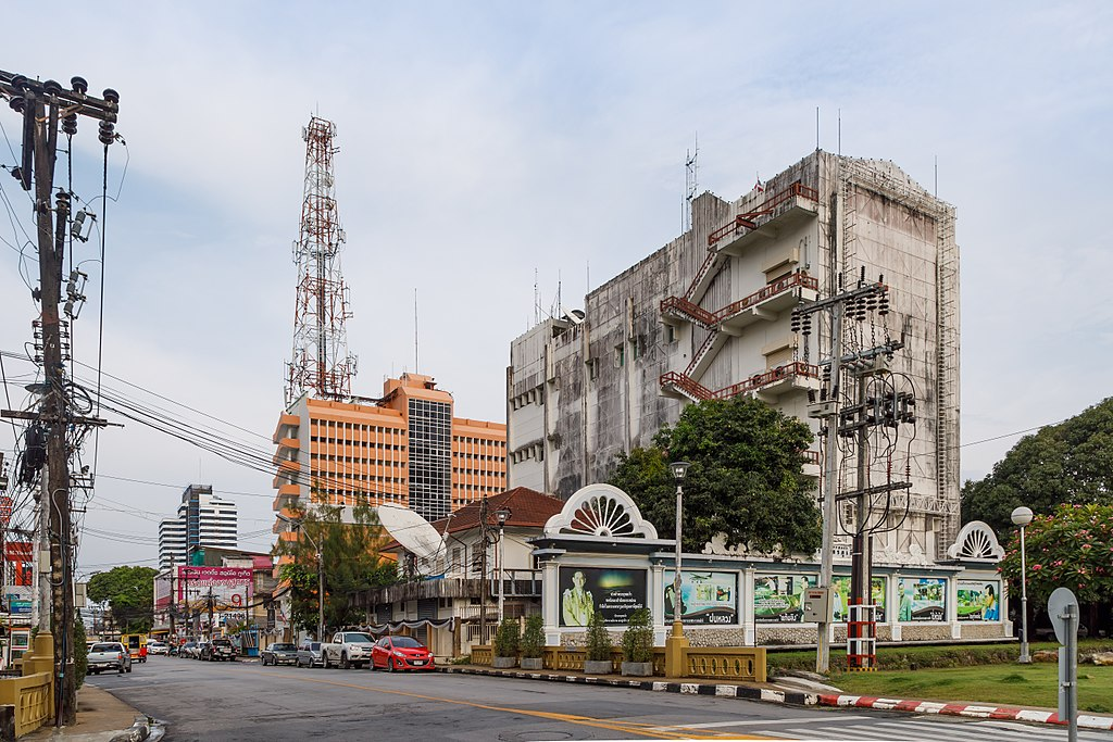 TOT Building and Antenna Tower in Phuket Town