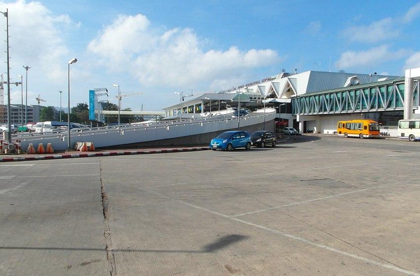 Phuket Airport terminal exterior.
