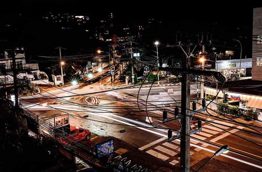 Phuket street at night