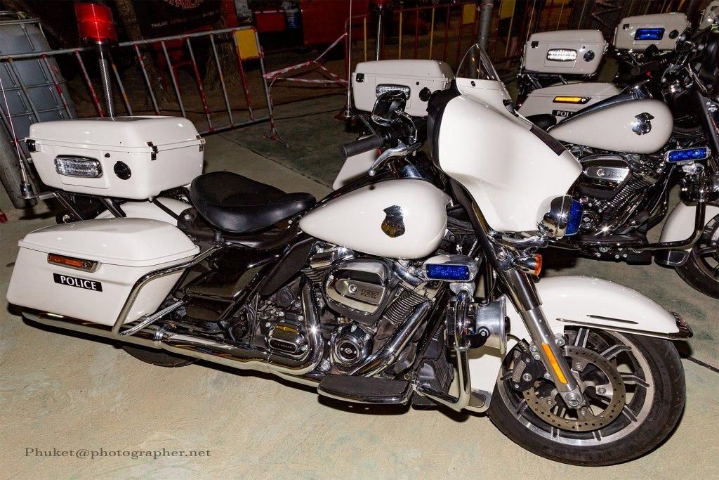 Police motorbikes at Phuket Bike Week
