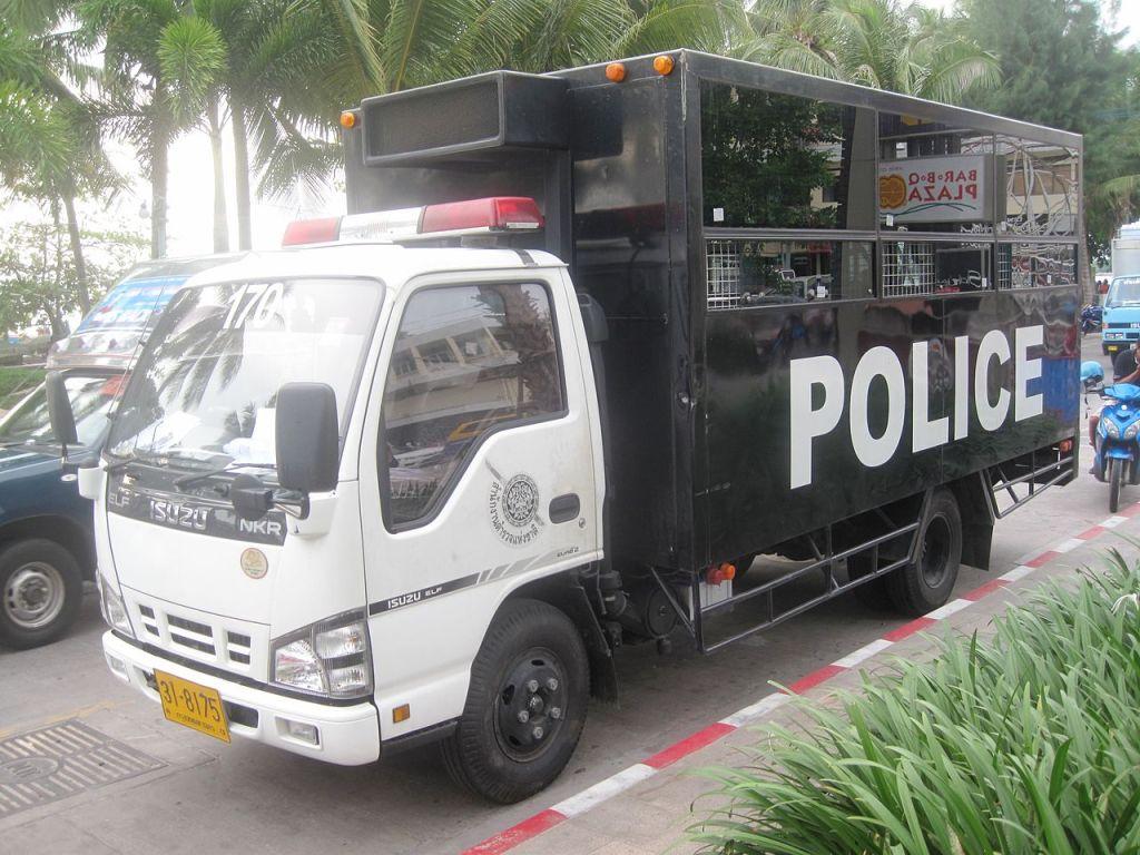 Thai Police Isuzu NKR prisoner transport truck