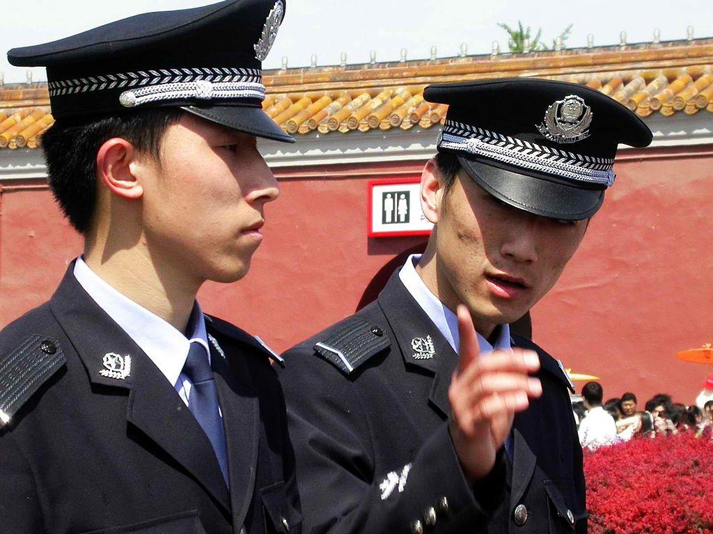 Chinese policemen in Beijing