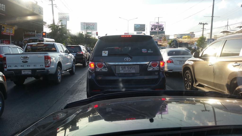 Traffic jam in Korat