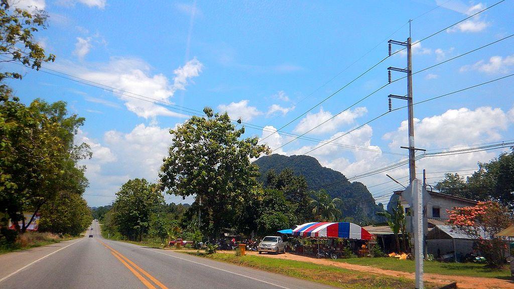 A road in Krabi province