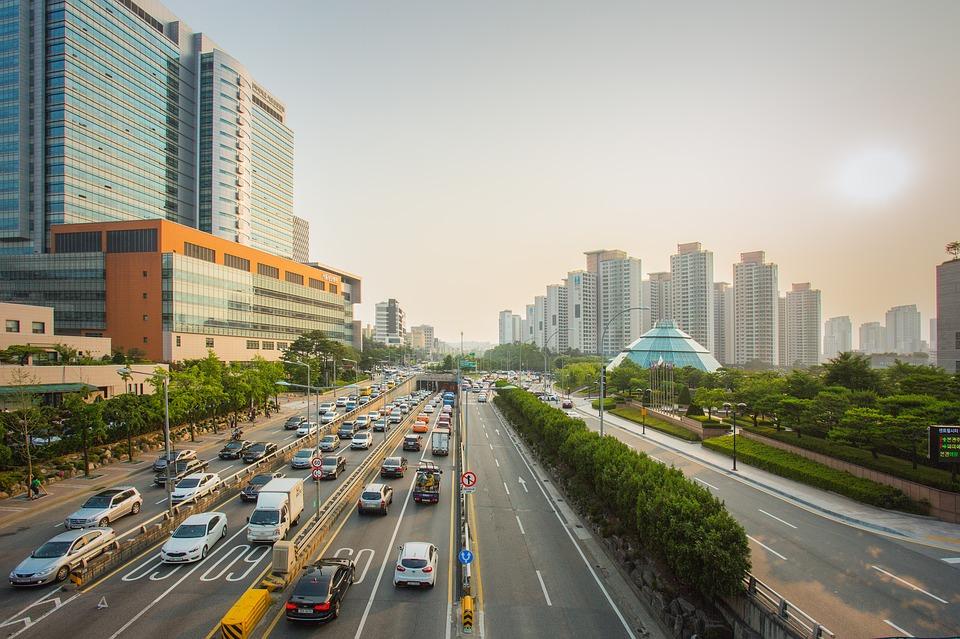 Road in Seoul, South Korea